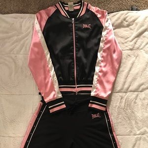 Everlast black and pink sport suit
